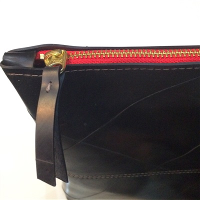 Large Recycled Rubber Zip Pouch