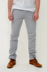 Organic Cotton Oyster Grey Chinos