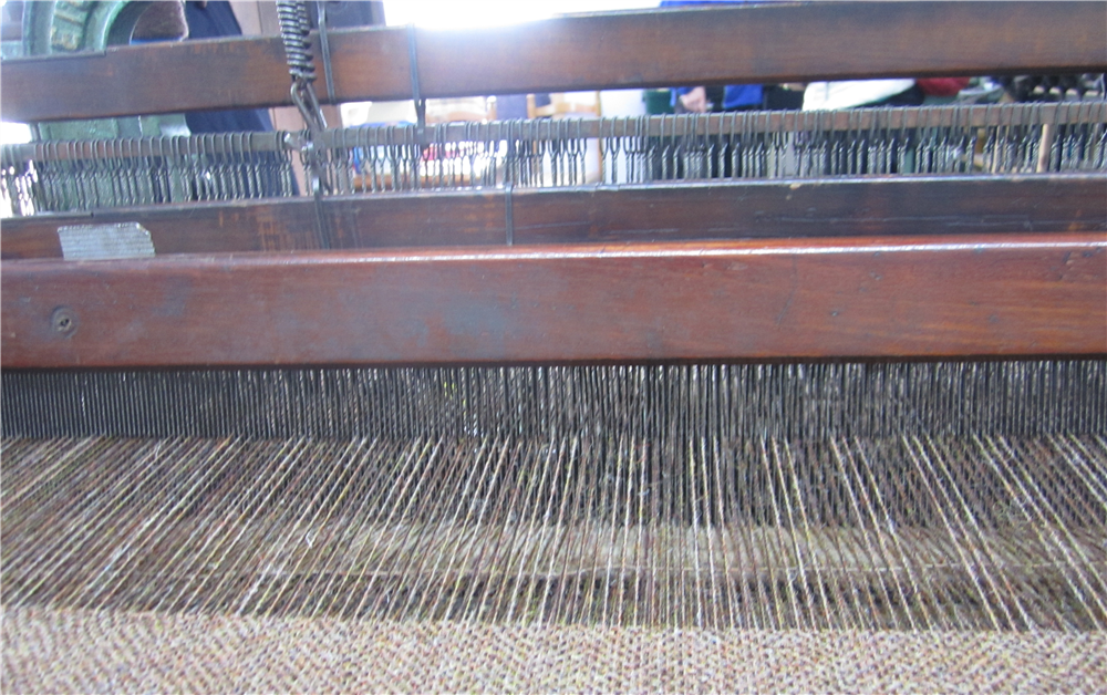 Our 'Moss' tweed being woven